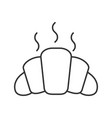 fresh croissant linear icon vector image vector image
