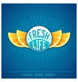 Fresh life vector image vector image