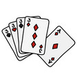 funny poker cards vector image vector image