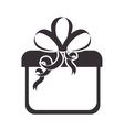 gift box present silhouette vector image