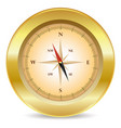 gold compass vector image vector image