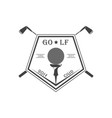 golf club logotype vector image vector image