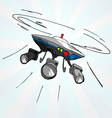 Hand drawn cartoon of flying drone vector image vector image