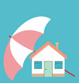 house under the umbrella concept of security of vector image vector image