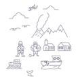 iceland symbols hand drawn set vector image vector image