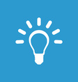 idea icon white on the blue background vector image vector image