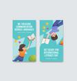 Instagram template with international literacy