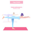 irabjadrasana iii warrior iii pose yoga vector image vector image