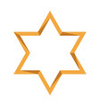 isolated golden jewish star vector image vector image