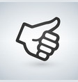 like thumb up icon flat design isolated on modern vector image vector image