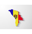moldova map with shadow effect vector image vector image