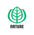 nature logo template concept vector image