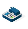 Office phone isometric vector image vector image