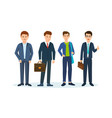 office workers in beautiful business suits vector image vector image