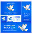 peace day banners template set with white origami vector image
