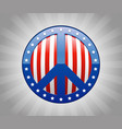 peace sign america symbol vector image
