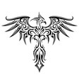 phoenix tattoo shape vector image