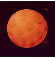 Planet Mars in space isolated vector image vector image