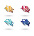 polygon triangle glossy 3d logo vector image vector image