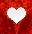 Red background of hearts vector image vector image