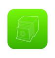 retro camera icon green vector image vector image