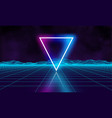 retro futuristic background for game music 3d vector image vector image