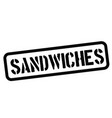 Sandwiches rubber stamp