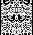 scandinavian floral folk seamless design vector image vector image