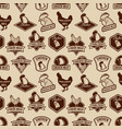 seamless pattern with chicken meat labels pattern vector image