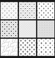set of seamless black and white patterns vector image vector image