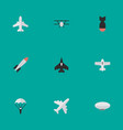 set of simple aircraft icons elements bomb vector image vector image