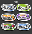 set of sport logos vector image vector image