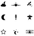 sky icon set vector image