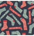 socks dark pattern vector image vector image