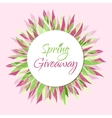 Spring giveaway card vector image