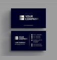 stylish dark business card design template vector image vector image