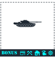 Tank army icon flat vector image vector image