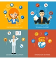 Technical Support and Customer Service Icons vector image vector image