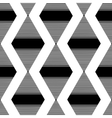 The pattern of the black striped rhombuses vector image