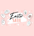 trendy header design with different hand drawn vector image vector image