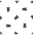 turtle pattern seamless black vector image vector image