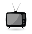 TV old in black color vector image vector image