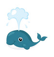whale funny alphabet animal vector image vector image