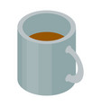 white tea cup icon isometric style vector image vector image