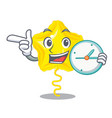 with clock stars ballon isolated in the character vector image
