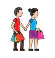 woman and man shopping icon image vector image