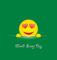 world emoji day greeting card design vector image vector image