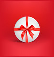 holiday white box on red vector image