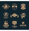 Retro Fitness Emblems vector image