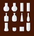 set of flat vases vector image